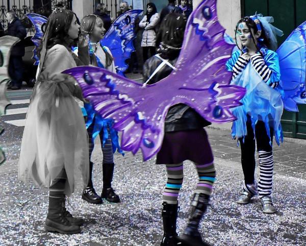 Carnevale colori a parte - Turchese viola